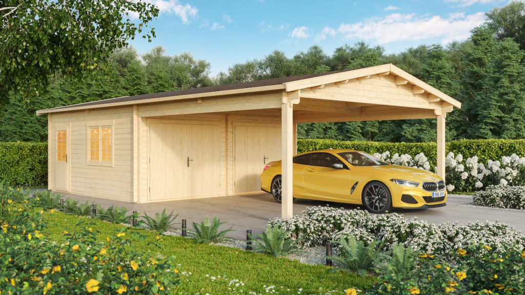 Double garage & carport 44