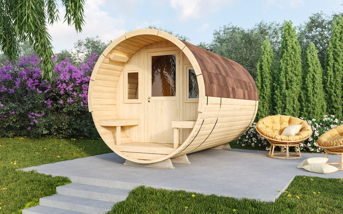 Baiba - barrel sauna with terrace
