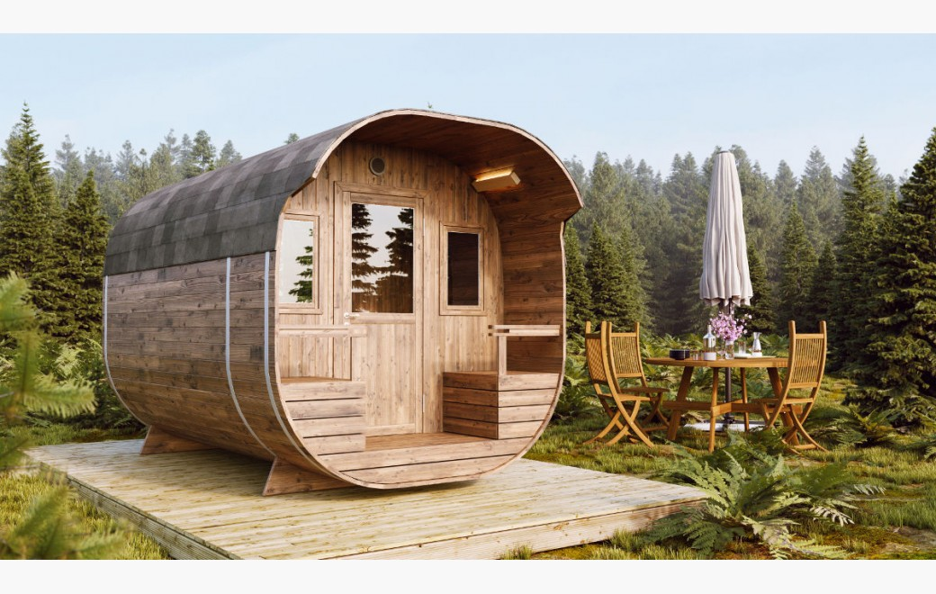 Camping Barrels Pods With 2 Rooms For Sale